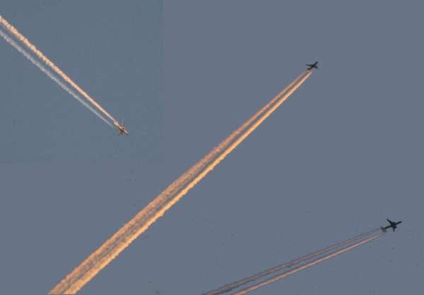 Estelas de aviones