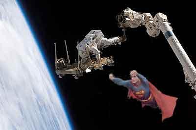 Superman en el espacio