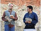 Rafael Royo y Alberto Cobos muestran fósiles de Turiasaurus - Vanguardia de la Ciencia - cienciaes.com