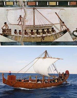 Navegación en el antiguo Egipto - Océanos de Ciencia - Cienciaes.com
