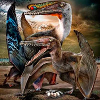 Bandadas de pterodáctilos - Zoo de fósiles podcast - CienciaEs.com