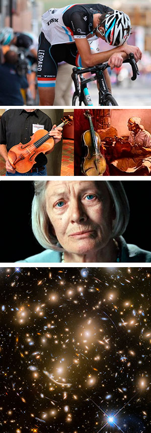 Pájara, Stradivarius, vejez y cúmulo de galaxias.