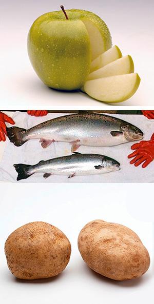 Manzanas, papas y salmón - Cierta Ciencia podcast - CienciaEs.com