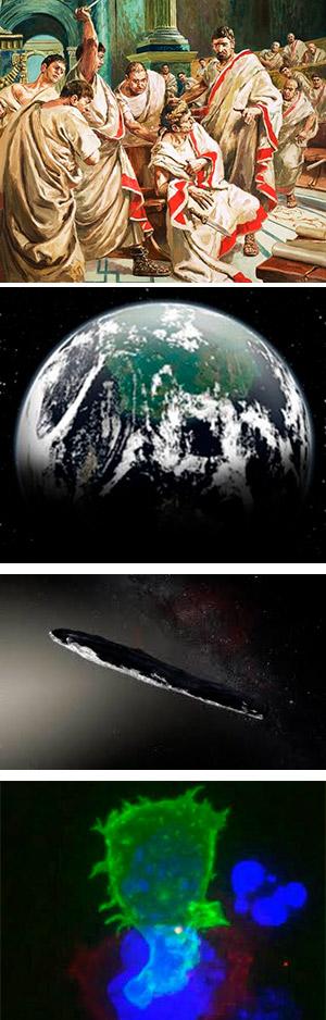 Volcán y Roma. Exotierras. Oumuamua. - Ciencia Fresca podcast - CienciaEs.com