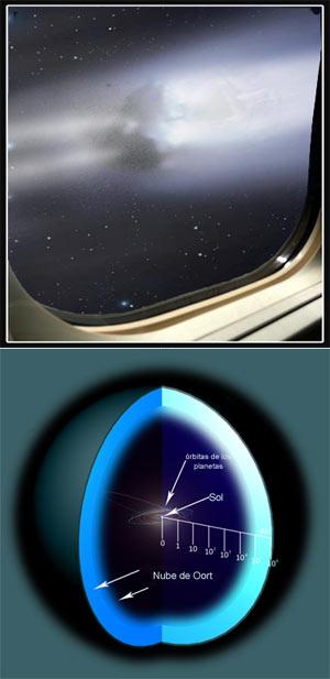 El cometa Ulises visto desde la nave