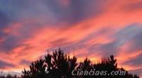 Nubes rojas