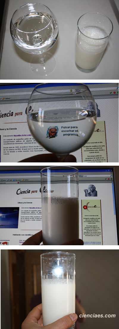Agua transparente